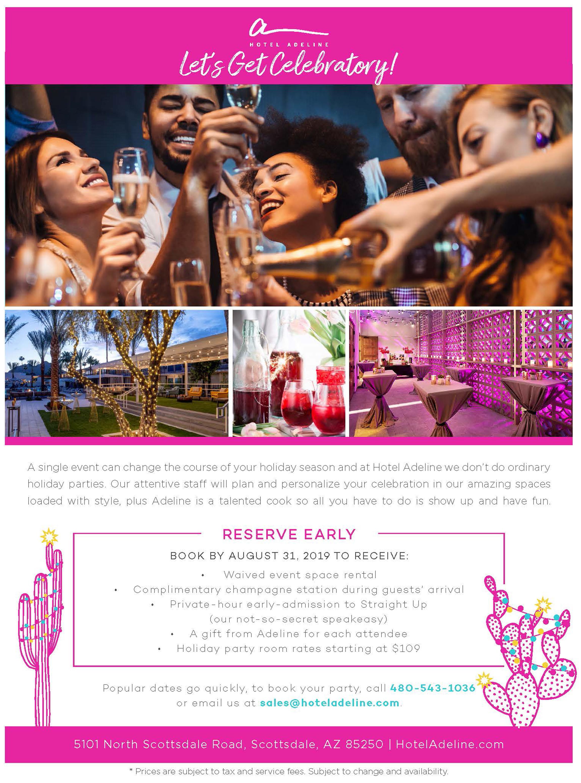 Holiday Parties Venues Scottsdale Az Hotel Adeline